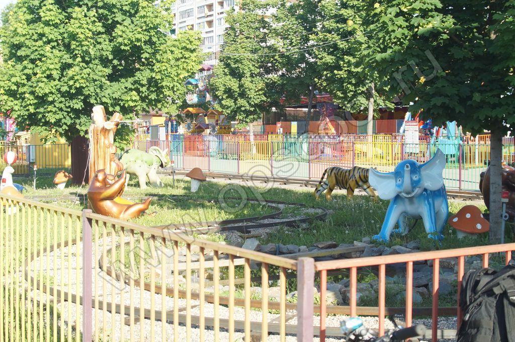 Покраска аттракционов в г. Иваново у ТРЦ Серебряный Город автоэмалью