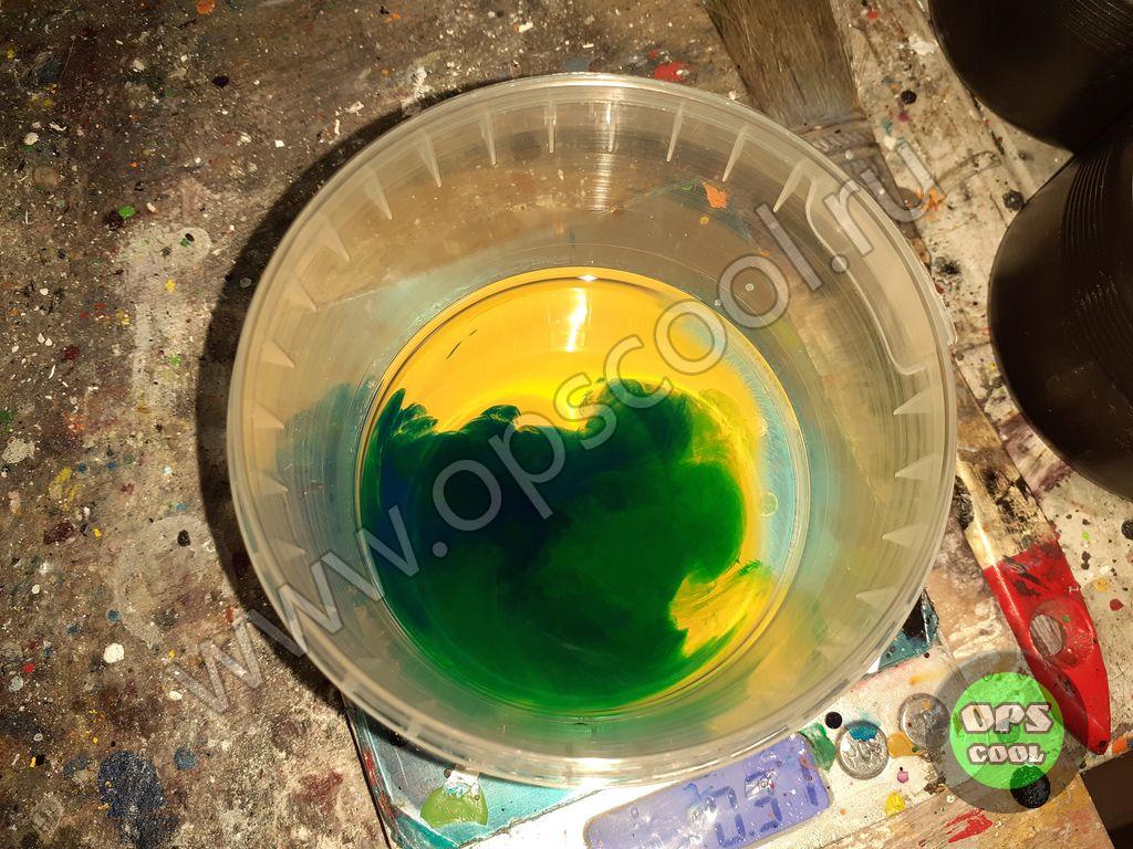 Приготовление эпоксидной краски.