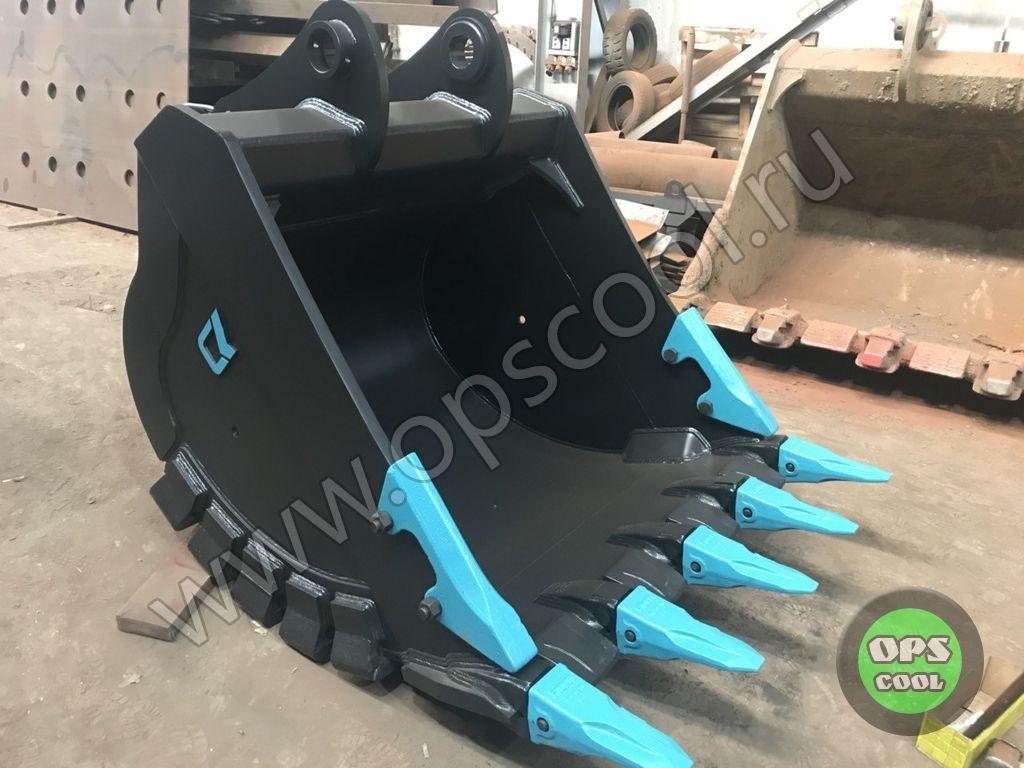 Ковш скальный усиленный и квик-каплер для экскаватора Volvo EC300DL