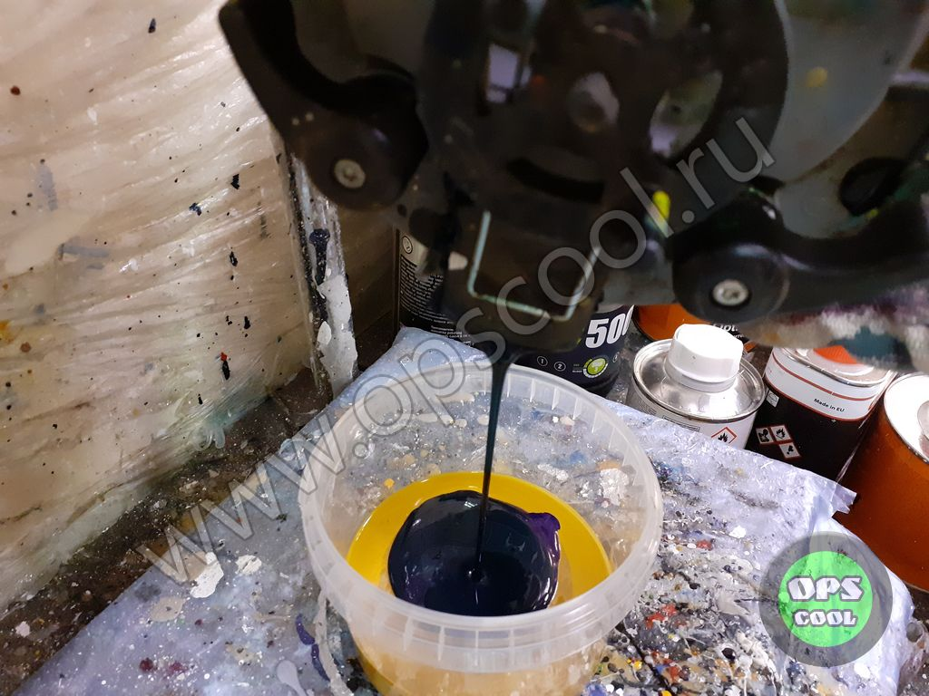 Полиуретановая краска для веткодробилки