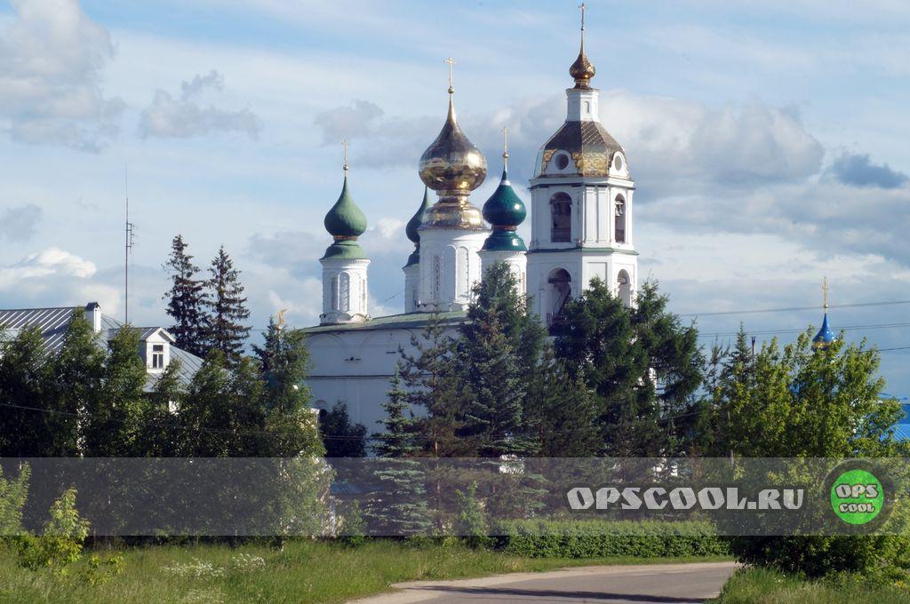 Краска на купола. Николо-Шартомский монастырь