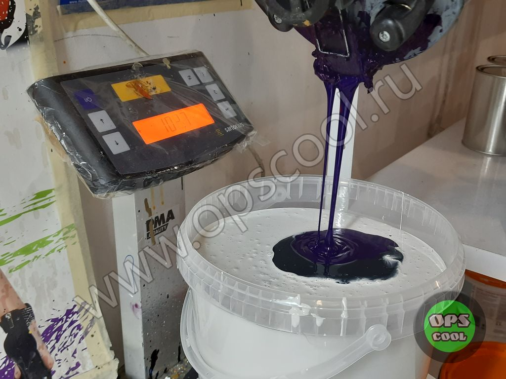 Полиуретановая краска для станка