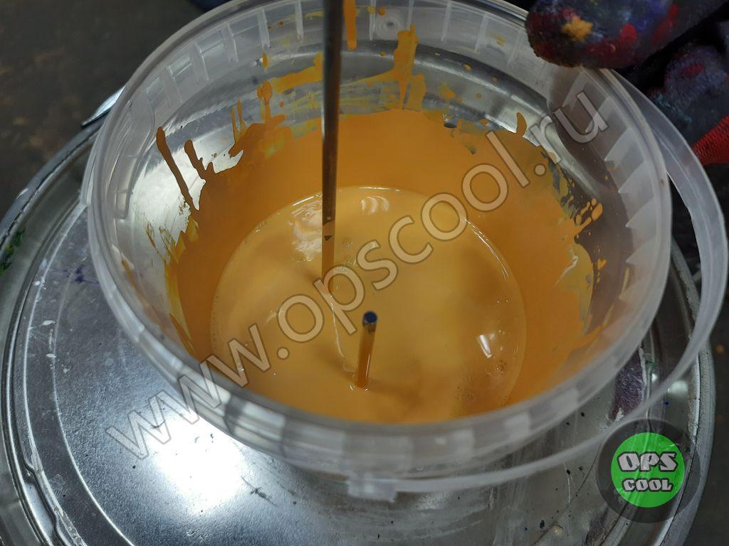 Желтая краска на УАЗ